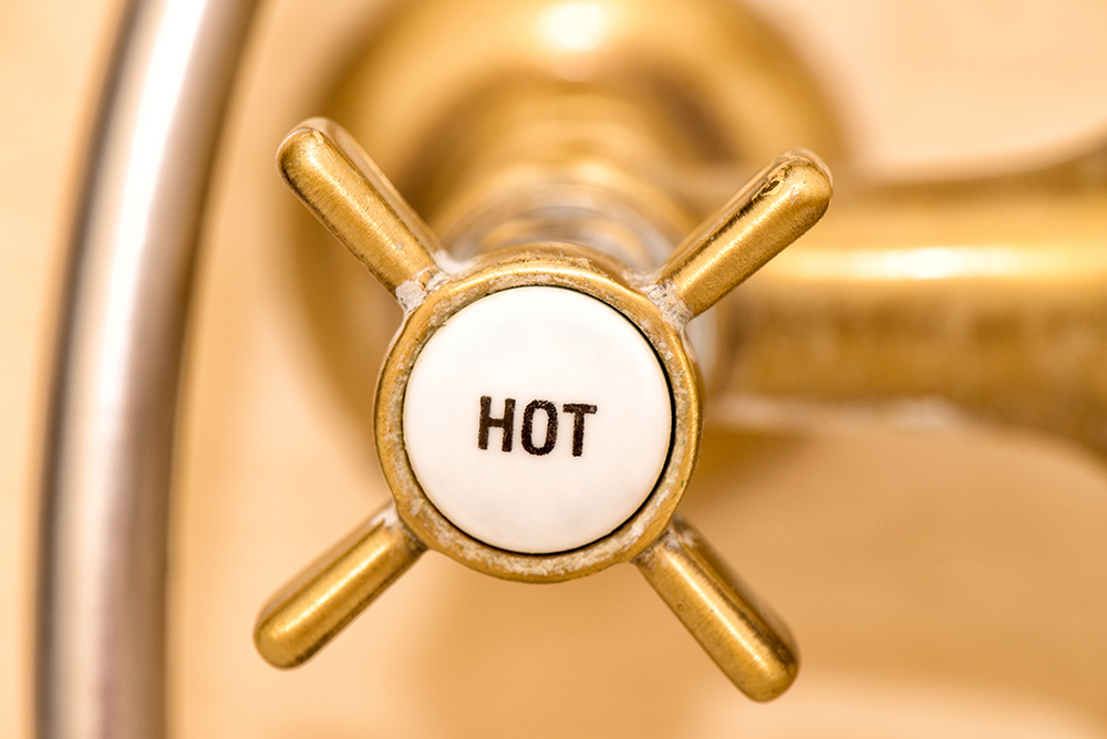 Close up of a vintage knob